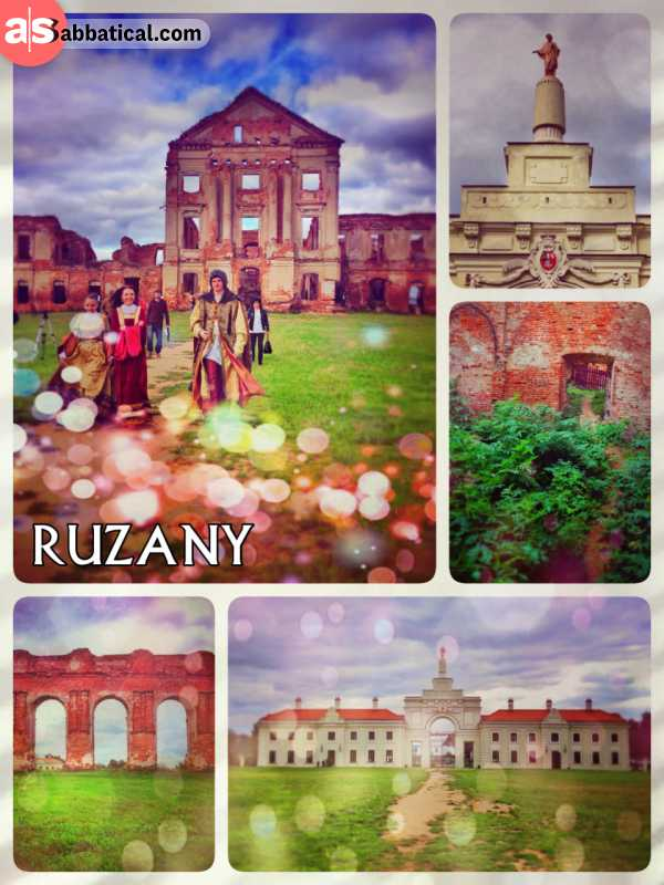 Ružany Palace - beautiful ruins of a once majestic palace