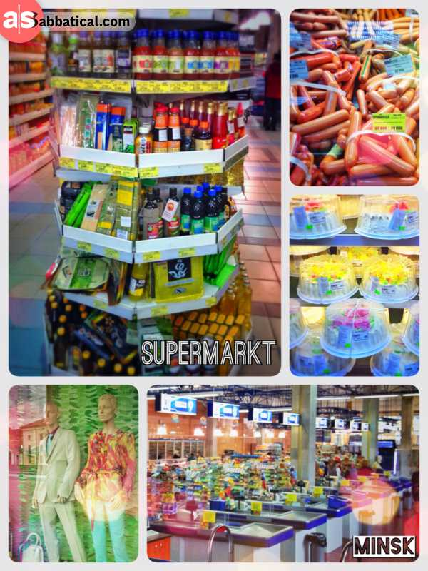 Grocery Shopping in Minsk - buying essential goods for living as a local