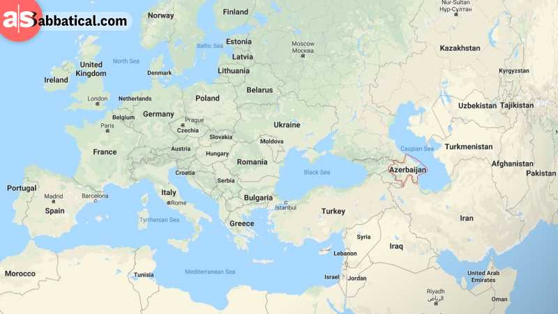 Where is Azerbaijan on the map?