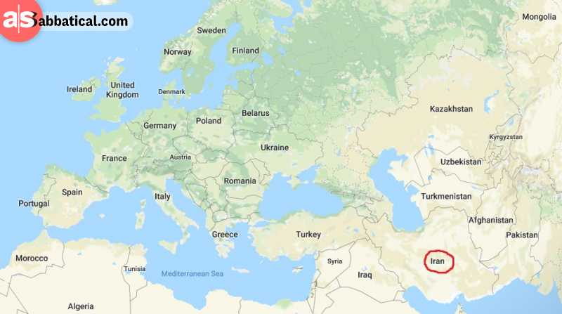 Where is Iran on the map?