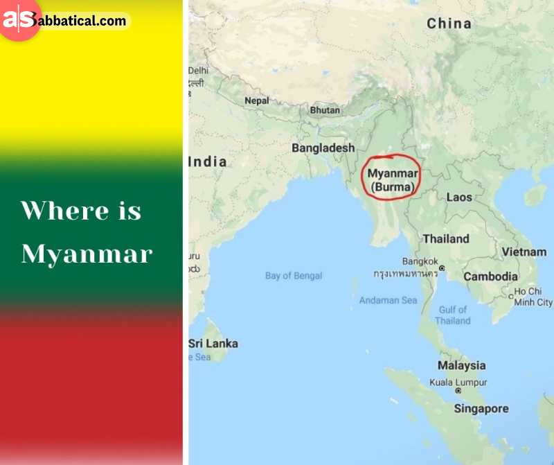 Where is Myanmar? It can be called as the western entrance to Southeast Asia.