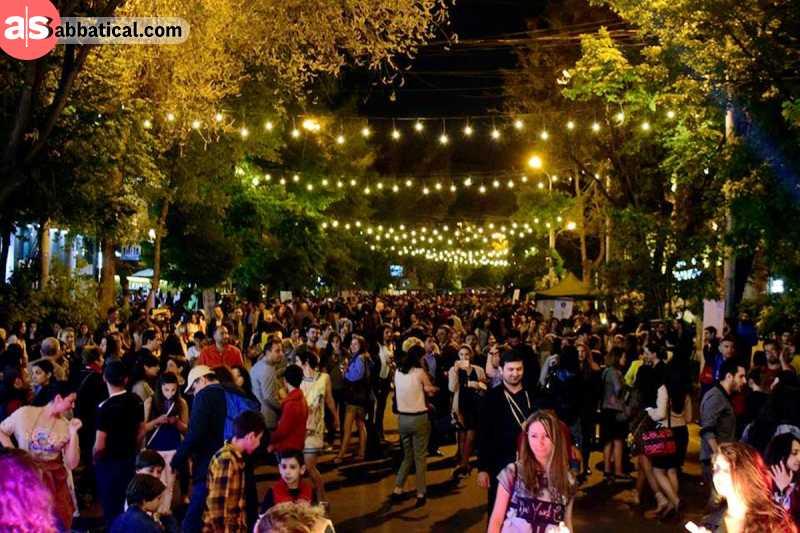Yerevan Wine Days at night. Image Courtesy of Map Travel.