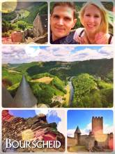 Bourscheid - climbing the first castle on my sabbatical journey in Luxembourg