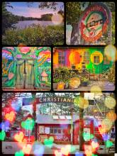 Freetown Christiania - enjoying colorful street art in the anarchical district of Copenhagen