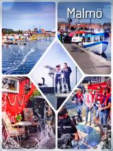 Malmö - making my first Swedish friends at the yacht harbor festival
