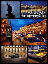 St. Petersburg by night - a beautiful city by day but even more stunning in the evening lights