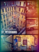 looking behind the white marble and colorful facades of St. Petersburg
