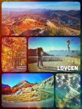 Lovcen National Park - panoramic view high above the colourful forest