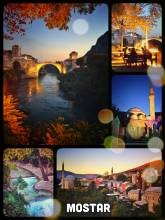 Mostar - an old bridge and its city