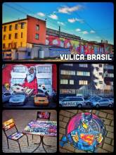 Vulica Brasil - where Lenin meets urban street art