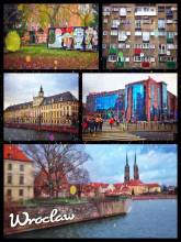 Wrocław - bridges, gothic buildings and street art