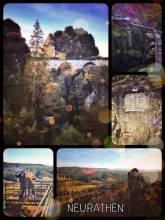 Neurathen Castle - faint castle ruins in an unreal rock formation