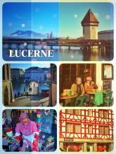 Lucerne - strolling along the promenade of the river Reuss