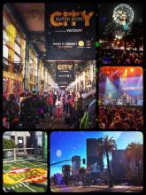 Superbowl City - announced as the event of the year, turned out to be pretty unspectacular