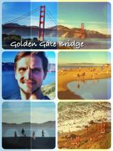 Golden Gate Bridge - finally standing face to face with the original and glancing down at the nudist beach