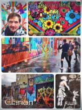 Clarion Alley - accidentally stumbling upon a hidden gem: a small alley full of colorful streetart