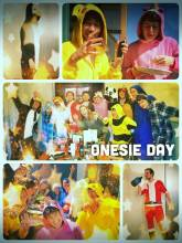 Onesie Day (at Hattery) - celebrating pyjama jumpsuits with a bunch of nerds at a co-working space is a lot of fun