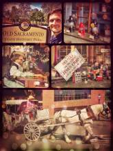 Old Sacramento - walking through the dusty streets of a township in the wild wild west