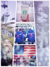 Heavenly Mountain Resort - feeling like in heaven when snowboarding in a thick layer of dense clouds