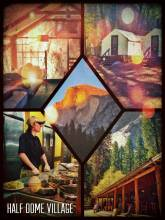 Half Dome Village - living the perfect camp life - except the missing camp fire and marshmallows