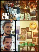 Fellow Barber - getting a brand new haircut before leaving America and heading to Africa