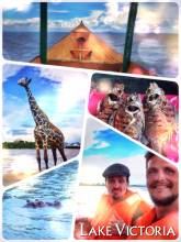 Lake Victoria - riding in a small boat across Africa's largest lake and source of the Nile!