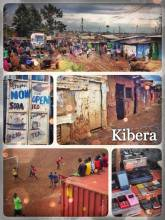 Kibera - following the muddy railroad tracks through the largest urban slum in Africa