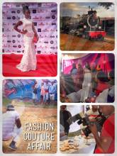 Fashion Couture Affair - attending my very first fashion show and posing on the red carpet with a real miss