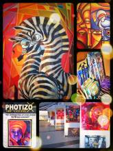 Photizo Gallery - admiring contemporary African art - instead of traditional Masai crafts
