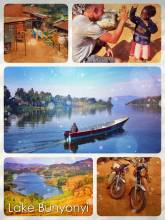 Lake Bunyonyi - one of Africa's deepest lakes in an area known as the Switzerland of Uganda
