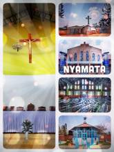 Nyamata - building a huge new church after the brutal Genocide in the old house of God