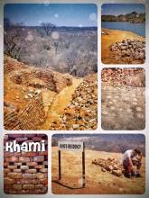 Khami Ruins - sweating a lot while exploring the stone ruins of an ancient zimbabwe city