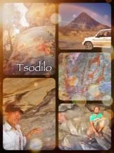 Tsodilo Hills - meeting the original bushmen and exploring ancient rock paintings of his ancestors