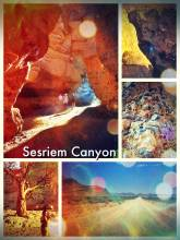 Sesriem Canyon - climbing down the small canyon before resting and camping in the middle of the desert
