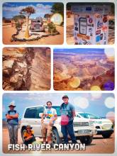 Fish River Canyon - hiking with a polish family along the rim of the world's second largest canyon