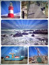 Cape Agulhas - reaching the southern most tip of the African continent, where two oceans meet!
