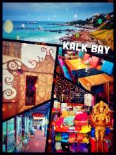 Kalk Bay - having a yummy cheesecake in an artsy cafe in a colourful township near Cape Town