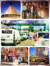 Maseru (South Africa > Lesotho) - rushing through the border and then the capital of the mountain kingdom
