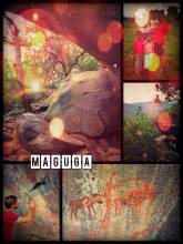 Maguga Rock Paintings - discovering an amazing set of rock paintings - far away of any bigger road