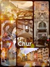 Chur - last pitstop in the old city before reaching my preferred ski resort in the swiss alps