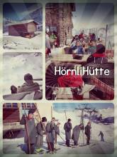 Hörnlihütte - drinking a hot chocolate and enjoying the view from the mountain peak restaurant