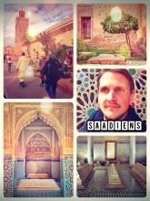 Saadiens Tombs - admiring one of the most impressively decorated mausoleums in all over Morocco