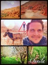Ounila Valley - following the river stream out of the Atlas mountains into the plains of the Sahara