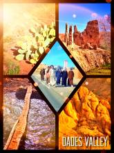 Dades Valley - hiking in the wild nature of a narrow valley cutting deep into the Atlas mountains