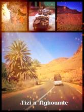 Tizi N Tlghoumte - crossing the Atlas mountains again, northbound towards the Mediterranean