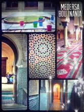 Medersa Bou Inania - active mosque and ancient university of Islam in the central medina of Fes