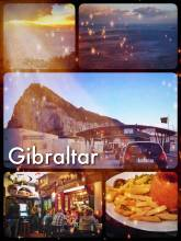 Gibraltar - sitting right between Spain and Africa, yet feeling like a small town in England