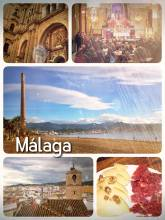 Malaga - having delicious tapas, ham and cheese in Andalusia along the Costa del Sol