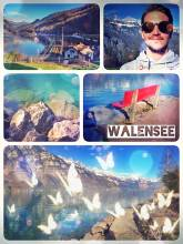 Walensee - one of the most beautiful lakes in Switzerland surrounded by mountain peaks
