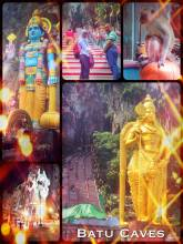 Batu Caves - natural limestone caves hosting a series of temples and religious statues